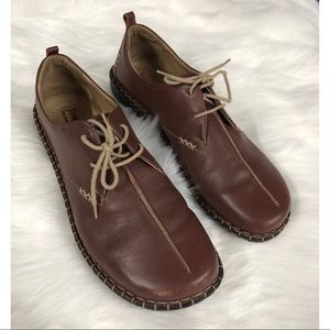 Josef Seibel Oxfords Brown Leather Shoes 10/10.5